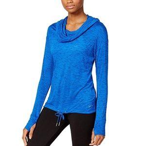 NEW Calvin Klein Women's Cowl Neck Hoodie Crop Top